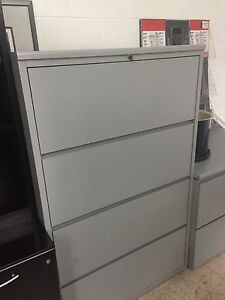 4dr 36 w Lateral Size File Cabinet By Kimball Office Furniture W lock