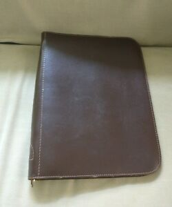 Leather Folder Notebook Zip Up Binder Organizer Planner