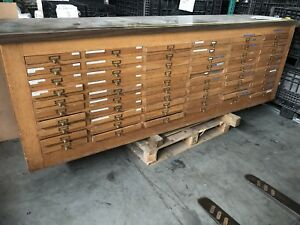 Dentist Supply Or Tool Cabinet Wood Sliding Drawers