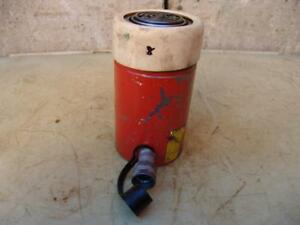 Spx Power Team C554c Single Acting Hydraulic Cylinder 55 Ton Works Great 8