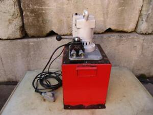 Spx Power Team Hydraulic Pump Double Acting Pe 554 120 Volts 10 Gal 10 000 Psi