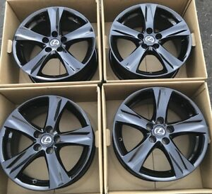 18 Lexus Is250 Is350 Oem Factory Wheels Rims Gloss Black 8 8 5 2011 2012 2013