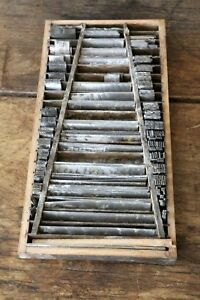 Vintage Letterpress Straight Edges Lines Stamps Wood Printing Tools Old Box