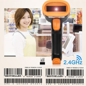 Portable 2 4ghz Wireless Usb2 0 Wired Barcode Reader For Supermarket Retail