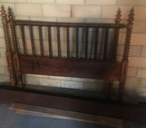 Early 1800s Jenny Lind Spindle Bed Nice Headboard Footboard 3 4 Size