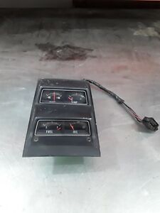 1968 1974 Nova Original Black Face Console Gauges Survivor