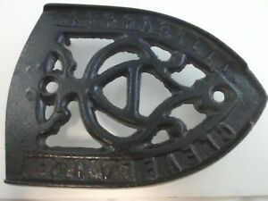Ferrosteel Cleveland A Vintage Cast Iron Trivet Kitchen Rare Antique Usa