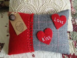 Handcrafted 8 X 6 Valentine Heart Pillow Tuck