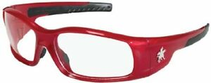 Crews Sr130 Swagger Safety Glasses Red Frame W clear Lens 12 Pair