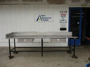 Stainless Steel Top 120 X 31 Work Table prep Table W drawers 3637