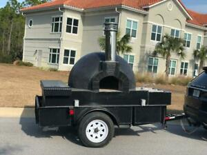 Wood Fire Pizza Oven Food Trailer Truck Mobile Concession