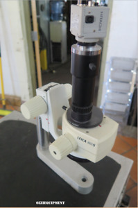 Leica Ms5 Microscope With Leica Phototube Adaptor And Hitachi Camera