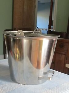 Milk Bucket Hand Milk Pail Stainess Steel 3 Gallon 13 Quart