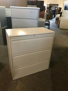 3 Drawer Lateral Size File Cabinet By Haworth Office Furniture W lock