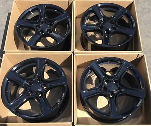 18 Chevrolet Camaro 1lt Black Wheels Rims Factory Oem 2016 2017 Set 4 Chevy