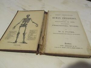 Human Physiology Compendium Book Pilter C1872 Rare 1st Edition Little Book