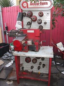Accu Turn 8922 Disc And Drum Brake Lathe W Stand And Tools