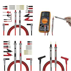 Multimeter Probes Replaceable Needles Test Leads Kits Probes For Digital Cable