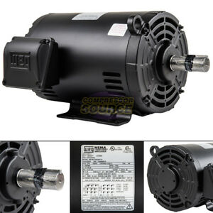 5 Hp 184t 3 Phase Weg Electric Motor Air Compressor 1760 Rpm 208 230 460