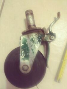 Vintage Bassick Wheel Swivel Industrial Caster Big 5 Wheel With Brake