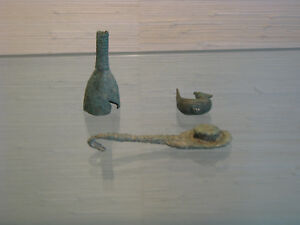 3 Chinese Ming Dynasty Bronze Belt Hook Fittings