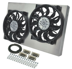 Derale 16836 Ho Dual 12 Electric Rad Fan shroud Kit 26 3 8 w X 16 h X3 7 16 d