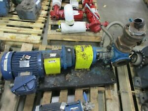 Viking Pump K224a 7 5hp Motor 80gpm 200psi Used
