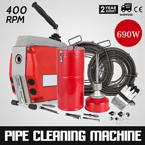 690w Drain Pipe Cleaning Machine Sinks Floor Drains R 600 Easy Operation On Sale
