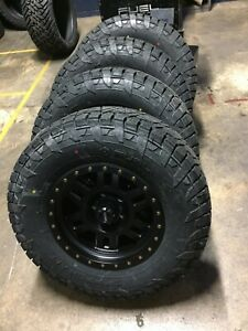 17x8 5 Vision 398 Manx Fuel At Wheel Tire Package 5x5 33 Jeep Wrangler Jk Jl