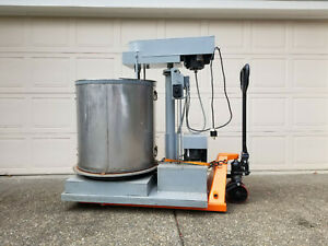 Dunbar Commercial Industrial Stainless Steel Mixer With Hydraulic Lift