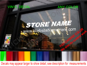 Custom Store Decal Business Name Door Window Sticker Medical Law Office Boutique