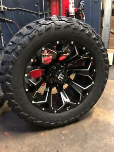 20x10 Fuel D576 Assault 33 Mxt Mt Wheel Tire Package 5x150 For Toyota Tundra