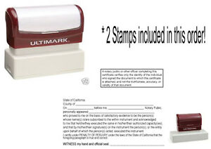 California Notary Acknowledgement Stamp Pre inked Notary Supply