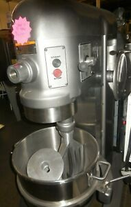 Used Hobart H 600t 60 Quart Food Mixer With Bowl And 2 Tools 230 Volts