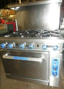 Used Imperial Range 6 Burners With Convection Oven Natural Gas