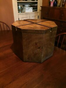 Lane Altavista Mid Century Modern Walnut Veneer Over Poplar Octagon End Table