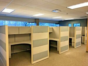 Lot Of 8 Cubicles By Steelcase Office Furniture 6ft X 6ft