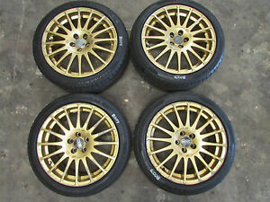 Jdm Genuine Oz Racing Gt Evo Wheels 17x7 5 Et48 5x100 Rims Subaru Brz Frs Wrx