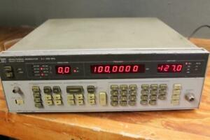 Hewlett packard Hp 8656a Synthesized Signal Generator 0 1 990mhz Works