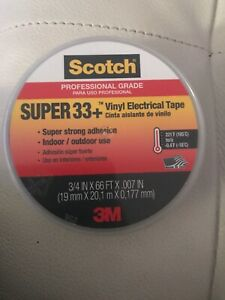 Scotch Super 33 Vinyl Electrical Tape 3 4 In X 66 Ft Lot Of 10 Items