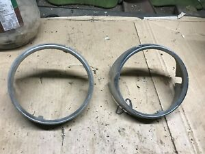 1963 Mercury Monterey Head Light Bezels 2a