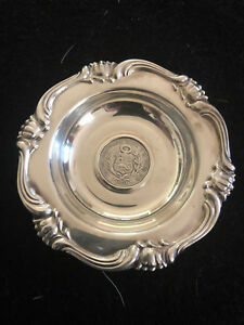 Peruana Camusso Sterling Coin Mounted In Dish 1901
