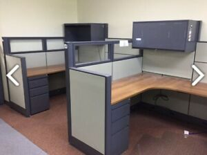 Lot Of 60 Global Evolve Office Cubicles In On Trend Color Fabric