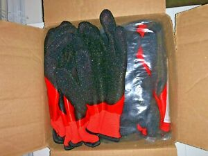 11 Pairs Lot Heavy Duty Insulated Rubber Coated Winter Work Gloves Large