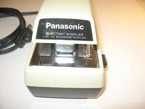 Panasonic Electric Stapler Model As 300 1 4 Standard Staples Durable Freeship