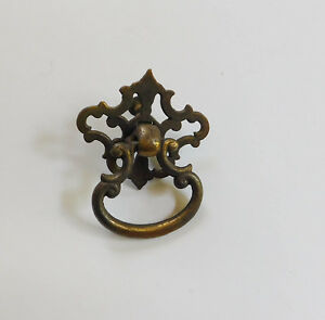 Vintage Gothic Brass Ring Handle Drawer Furniture Cabinet Pull