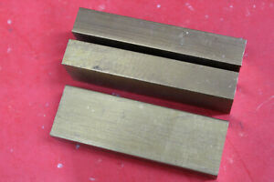 3 Pieces 1 X 2 C360 Brass Flat Bar 6 Long New Solid Mill Stock H02 1 0 x 2 0
