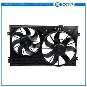 Radiator Ac Condenser Plastic Cooling Fan Fits For 2006 2009 Volkswagen Rabbit