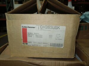 Cutler Hammer Dh363ugk Heavy Duty Non fusible Safety Switch 100a 600v Type 1 Enc