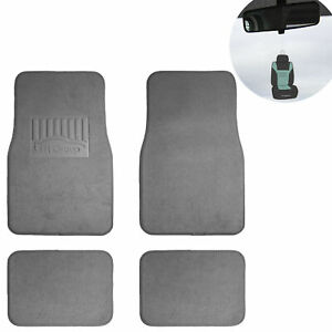 4pcs Carpet Floor Mats For Auto Car Suv Van Universal Gray W Gift
